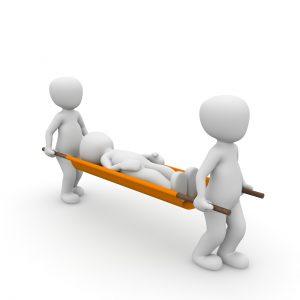 פצוע לאחר תאונה